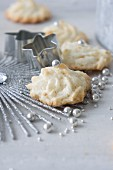 Coconut macaroons with sugar beads