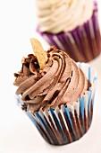 Chocolate cupcakes with Gianduia cream