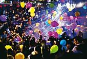 A packed nightclub in Belgrade, Serbia