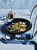 Maltagliati mit Kimchi und Guanciale (Gericht aus dem Restaurant Acme, Sydney)