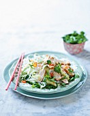 Thai glass noodle salad with chicken and vegetables