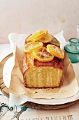 Lemon cake with cardamom syrup