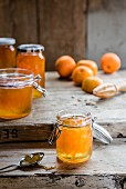 Marmalade with mandarins and oranges