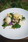 Cauliflower, almonds and rocket pesto, 'Rabbit' restaurant, London, England