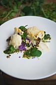 Cauliflower, almonds and rocket pesto, 'Rabbit' restaurant, London, England