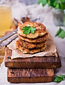 Mackerel and potato fritters
