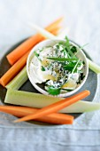 Herb quark with vegetable sticks