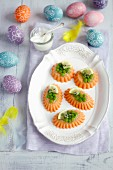 Salmon mousse with gelatine and peas for Easter