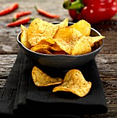 A bowl of chilli crisps