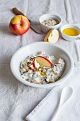 Muesli with chia seeds, oats, apples and flaxseed oil