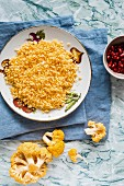 Yellow cauliflower couscous