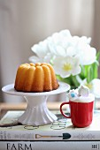 A mini Bundt cake
