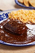 Chicken with mole (Mexico)