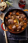 Game stew with carrots