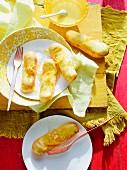 Lemon curd eclairs