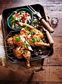 Huhn à la Zatar mit Granatapfel