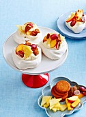 Gingerbread peach pavlovas