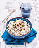 Mushroom risotto with cauliflower