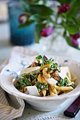Pasta with salsicce and kale