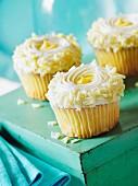 Lemon cupcakes with white chocolate