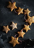 Gingerbread stars on a string