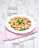Crayfish salad with rocket