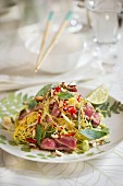 Oriental noodle salad with tuna fish