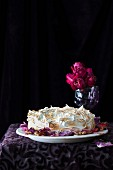 Lemon and poppyseed cake topped with meringue