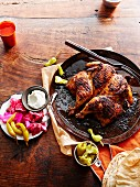 Farouj Meshwe (barbecued garlic chicken, Lebanon)