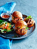 Vietnamese mini pulled pork burgers