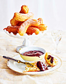 Cinnamon churros with a chocolate-Grand Marnier dip