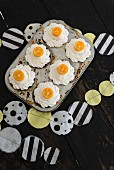 Kumquat cupcakes and homemade bunting