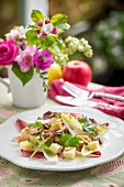 Apple salad with walnuts