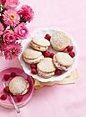Raspberry cream whoopie pies