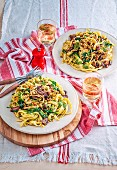 Pesto Crumb Fettucine