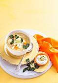 Lentil Soup with Kale Crisps
