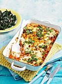 Pumpkin cannelloni with sauteed silverbeet