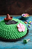 A vanilla and lime 'cactus' cake