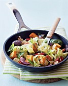 Pasta with vegetables and pesto