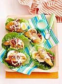 Caesar Salad mit Hähnchenstreifen