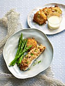 Nut-crusted barramundi and rosti