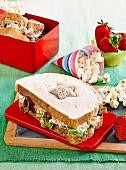 Tuna star sandwiches
