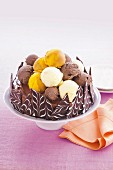Brownie ice-cream cake