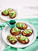 Salmon & Cucumber bruschetta
