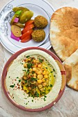 Hummus (chickpas purée); Jerusalem, Israel