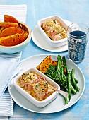 Chicken cordon bleu bake