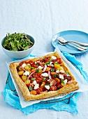 Ham and tomato tart