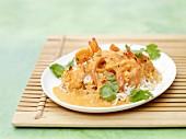Garnelencurry auf Reis