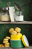 Macaroons with pineapple mousse