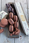 Light chocolate macaroons
